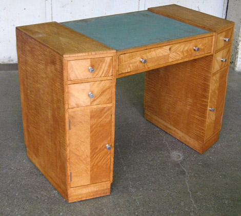 art deco writing table in