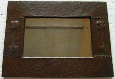 Arts Amp Crafts Copper Framed Mirror